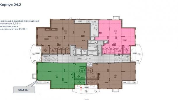 Продажа торгового помещения  125.1м2,  , 13761000 руб.