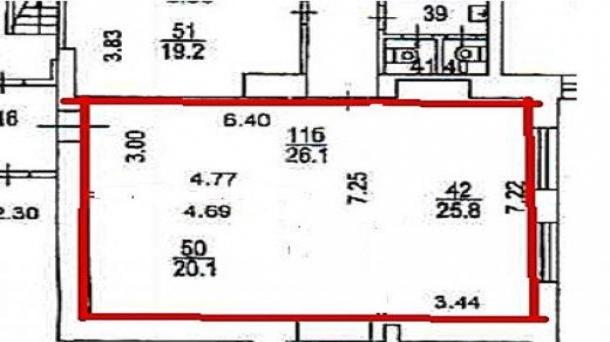 Аренда под офис 72м2, Москва, 95976руб.