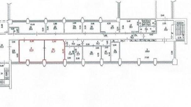 Сдам в аренду офисное помещение 89м2,  метро Тверская