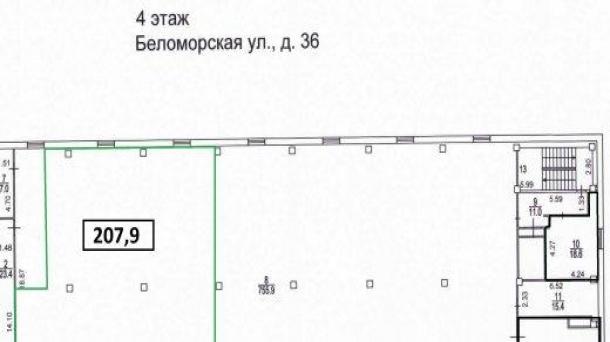 Помещение под офис 253.8м2,  метро Коломенская