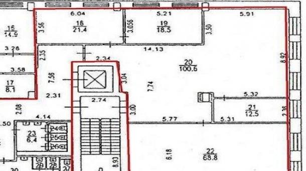 Сдам офисное помещение 271.4м2, 410629руб., метро Белорусская