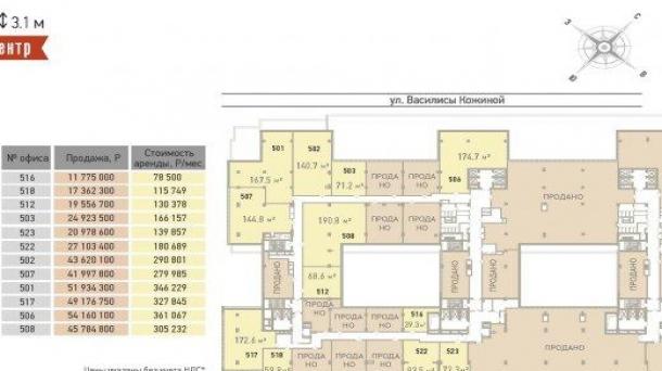 Продается площадь под офис 172.55м2, 58028565руб., метро Белорусская