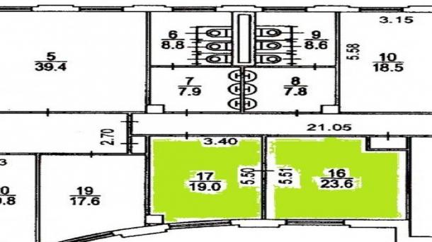 Сдам в аренду офисное помещение 42.6м2, 120005руб., метро Аэропорт