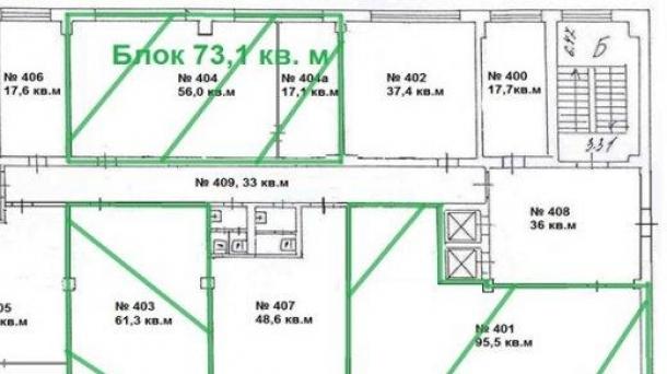 Офис в аренду 73.1м2, 52998руб., метро Площадь Ильича