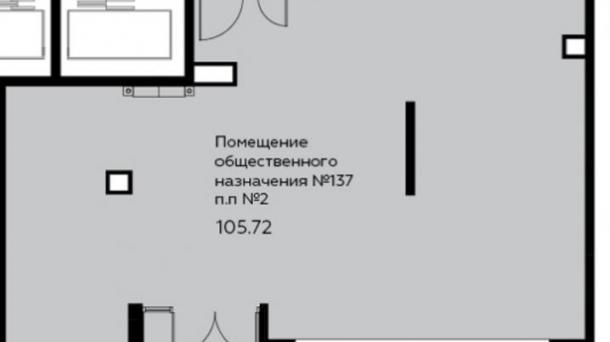 Торговое помещение 105.72 м2