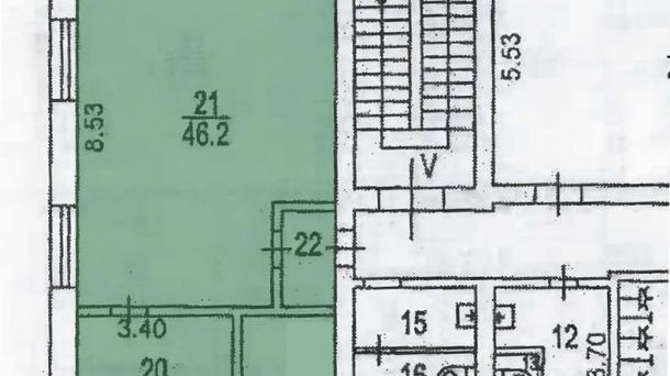 Офис 64.1м2, Рязанский проспект,  д. 10,  стр. 16,  этаж 2/3