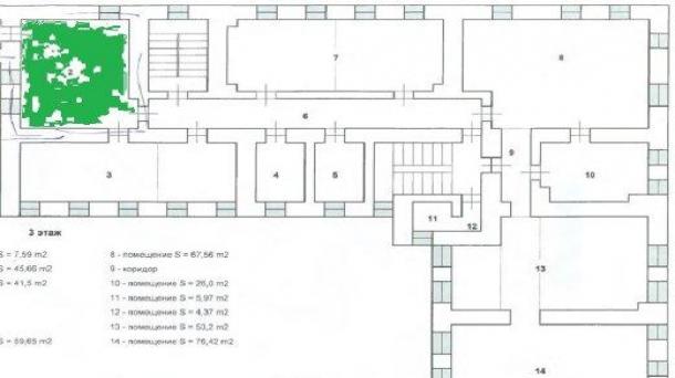 Офис 53 м2 у метро Театральная