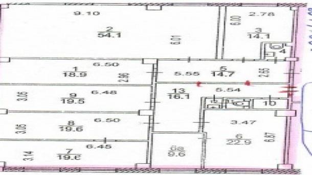 Офис 214м2, Пражская