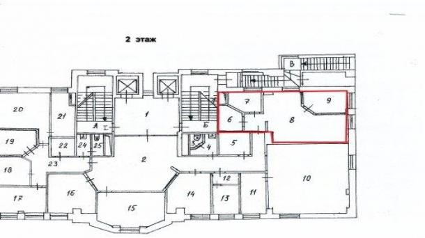 Офис 59.8 м2 у метро Бауманская