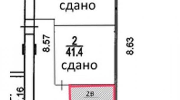 Офис 19.6м2, МЦК Коптево